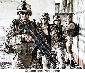 soldats marine, escouade