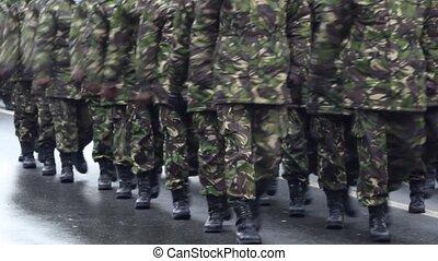 soldats, parade