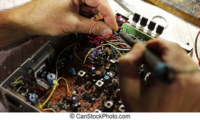 Soldering Electronics on Circuit Board