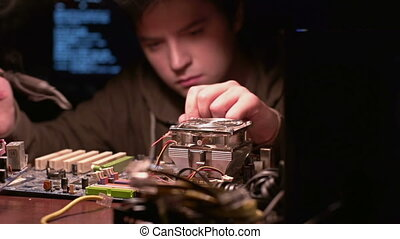 Soldering Process - Shifting focus from processor to...