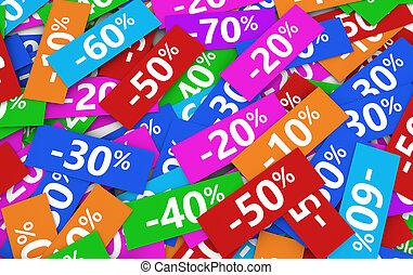 soldes, 割引, 買い物, セール