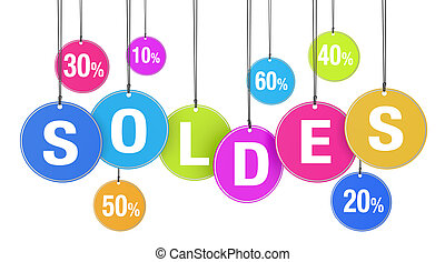 Soldes Shopping Concept - Sale, discount and promotion...