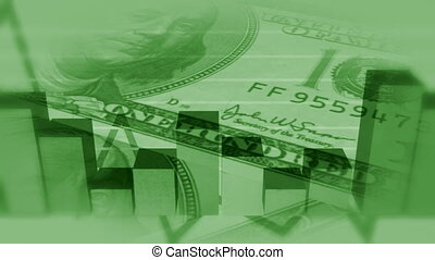 soldi, affari, annodare, verde, bg
