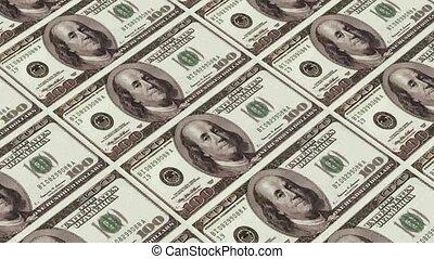 soldi, animazione,  100, stampa, dollaro