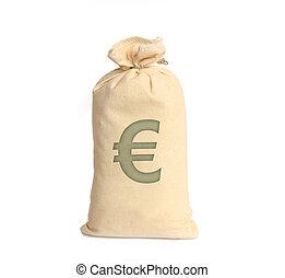 soldi, bianco, borse