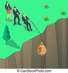 soldi, combattimento, sopra