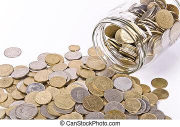 soldi, concetto, risparmio