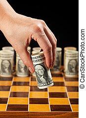 soldi, concetto, strategia