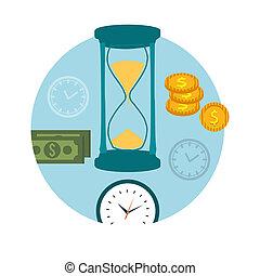soldi, concetto, tempo