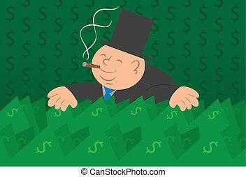 soldi, contanti, uomo