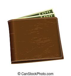 soldi, dollaro, portafoglio