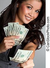 soldi, donna