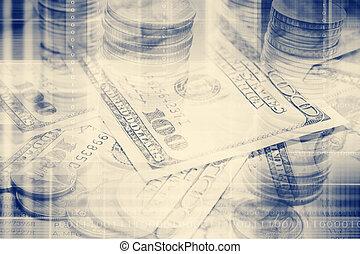 soldi, fondo, concetto, l