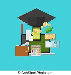 soldi, gestione finanziaria, costo, educazione