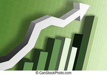 soldi, grafico, mercato