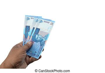 soldi, indonesiano, carta