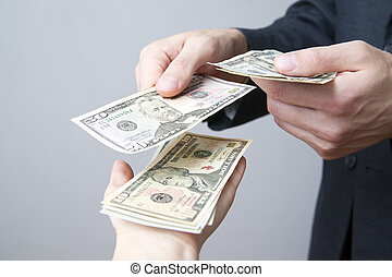 soldi, mani, persone