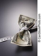 soldi, metro a nastro
