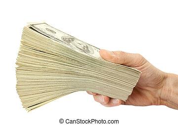 soldi, mucchio, grande