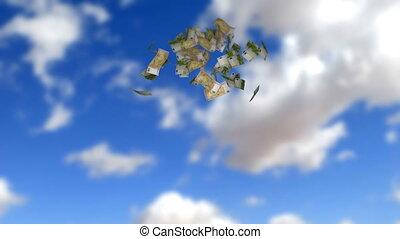 soldi, pioggia