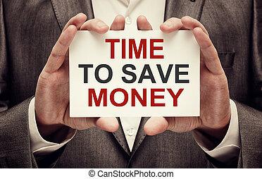 soldi, risparmiare, tempo