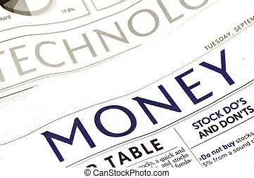 soldi, sezione