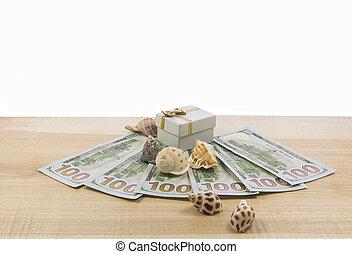 soldi, sfondo bianco