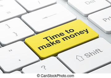 soldi, timeline, fare, computer tastiera, fondo, tempo,...