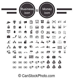 soldi, ufficio affari, icona