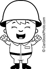 Soldier Boy Excited