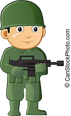Soldier boy vector icon