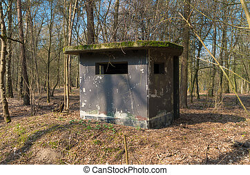 soldier bunker - old concrete bunker on a former military...