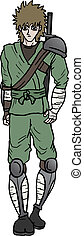 Soldier cartoon