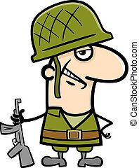 soldier cartoon illustration