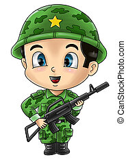 Soldier - Cute cartoon illustration of a soldier