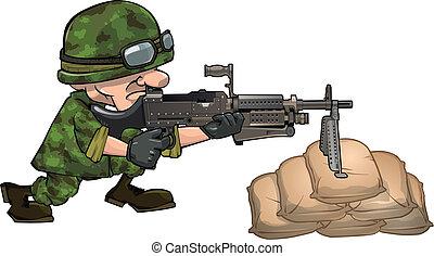 Soldier EPS10 vector