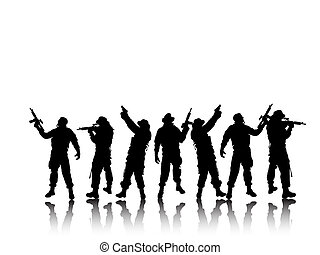 soldier group - soldiergroup with shadows