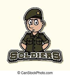 soldier logo illustration design