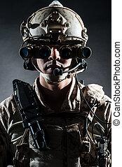 soldier man solemn style fashion
