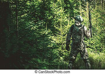 Soldier Mission in the Forest