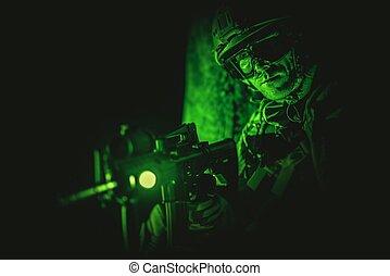 Soldier Night Vision Spotting