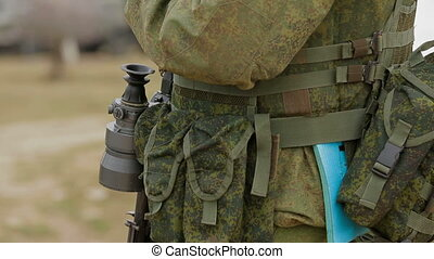 Soldier on duty