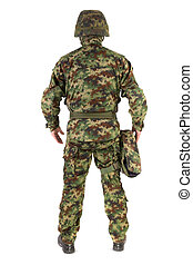 Soldier on white background