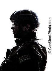soldier on white background