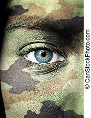 Soldier portrait closeup