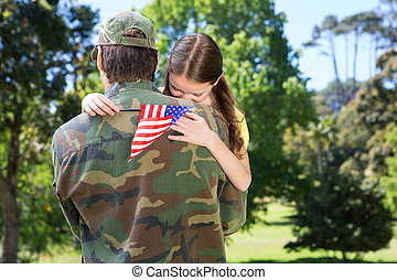 Soldier reunited with daughter