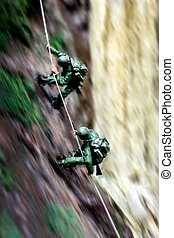 soldier toy in forest situation
