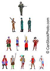 soldier uniform and weapons through history