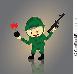 Soldier vector cartoon