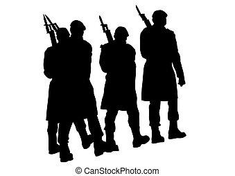 Soldier whit gun eight
